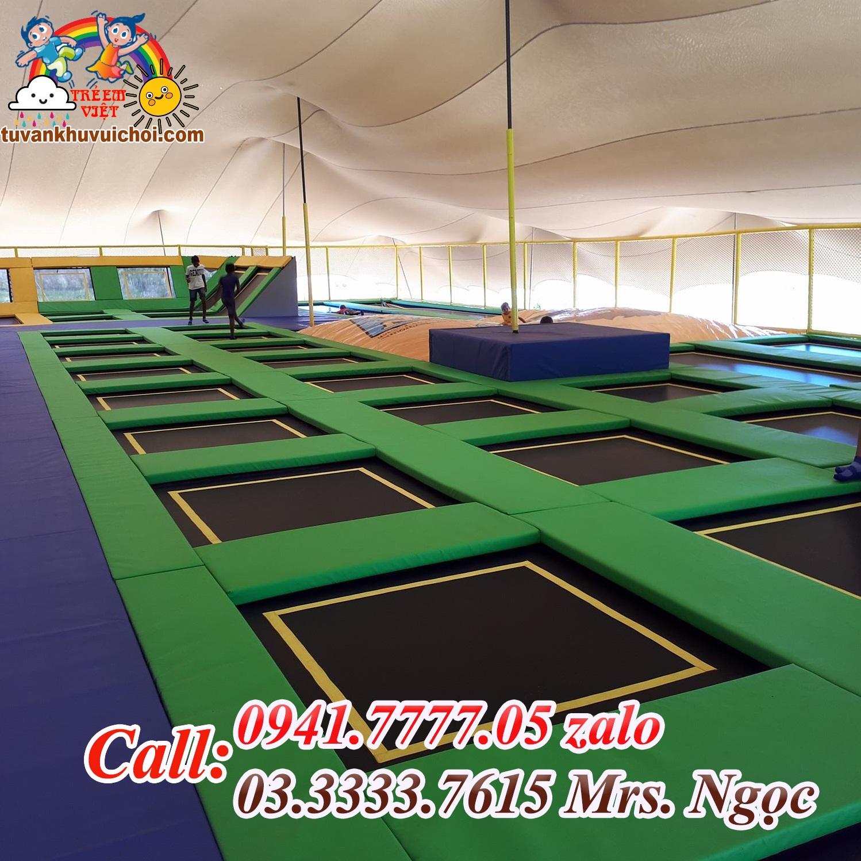 sàn nhún bật nhảy trampoline